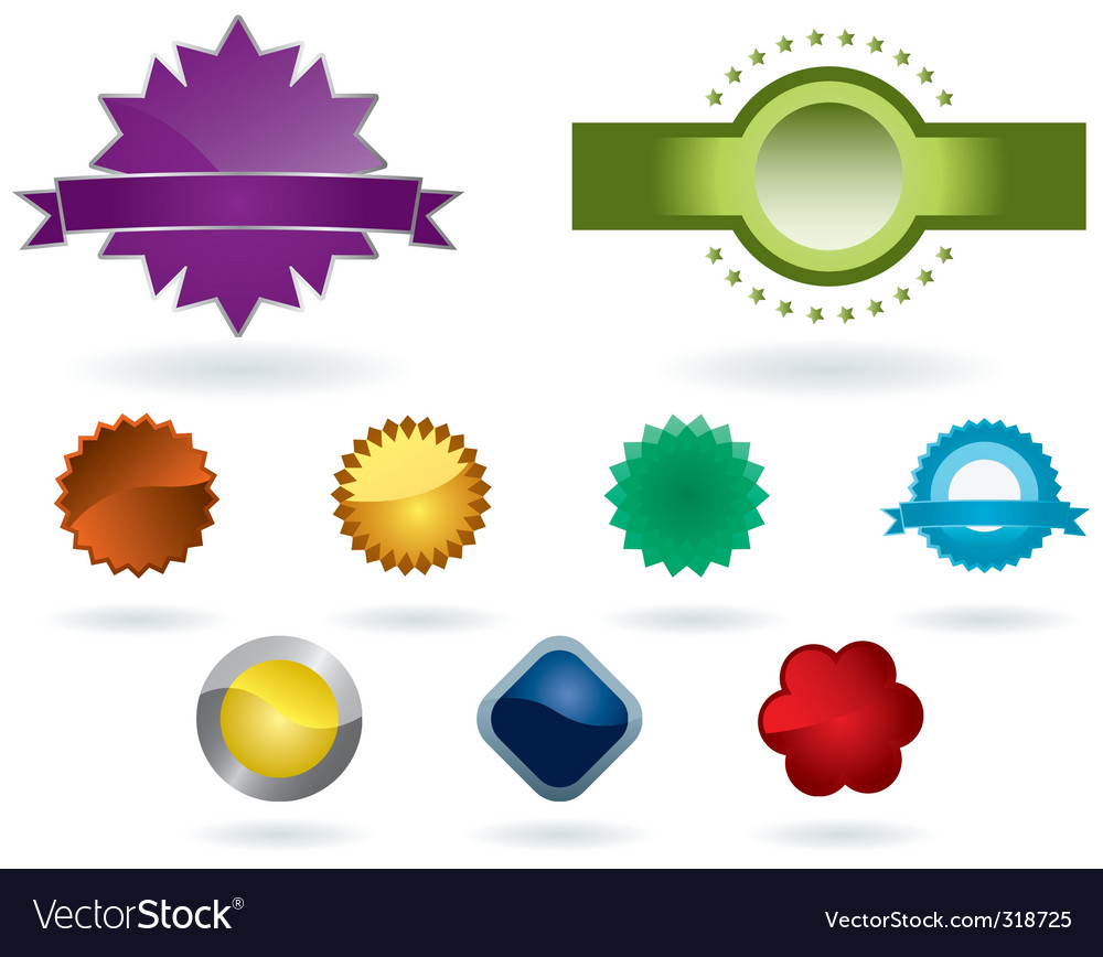 Colorful labels vector