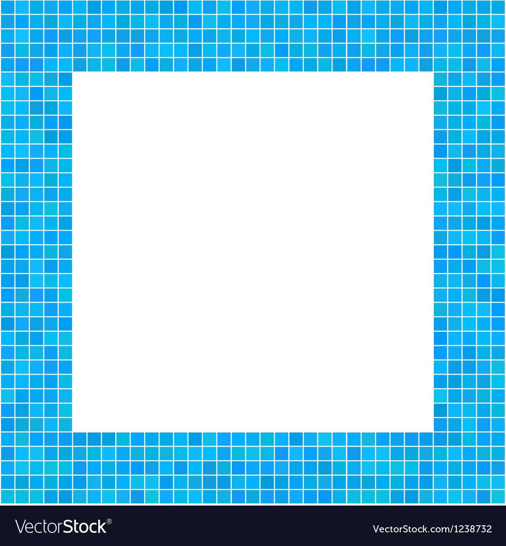 Mosaic frame blue vector