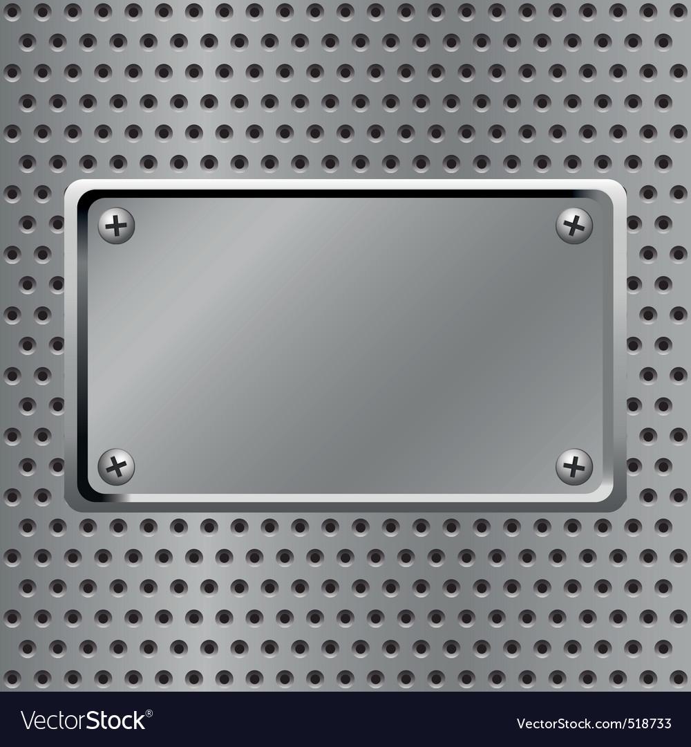 Steel background vector