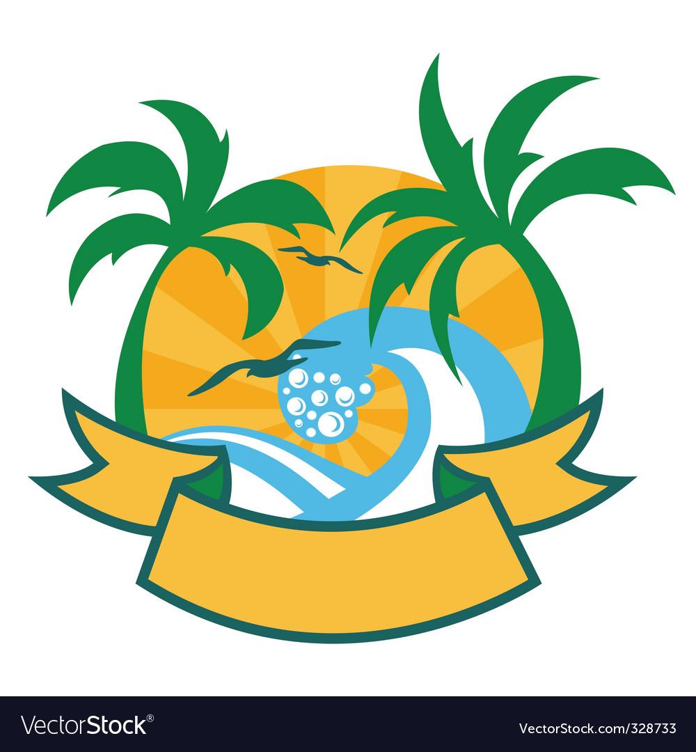 Tropical islands vector