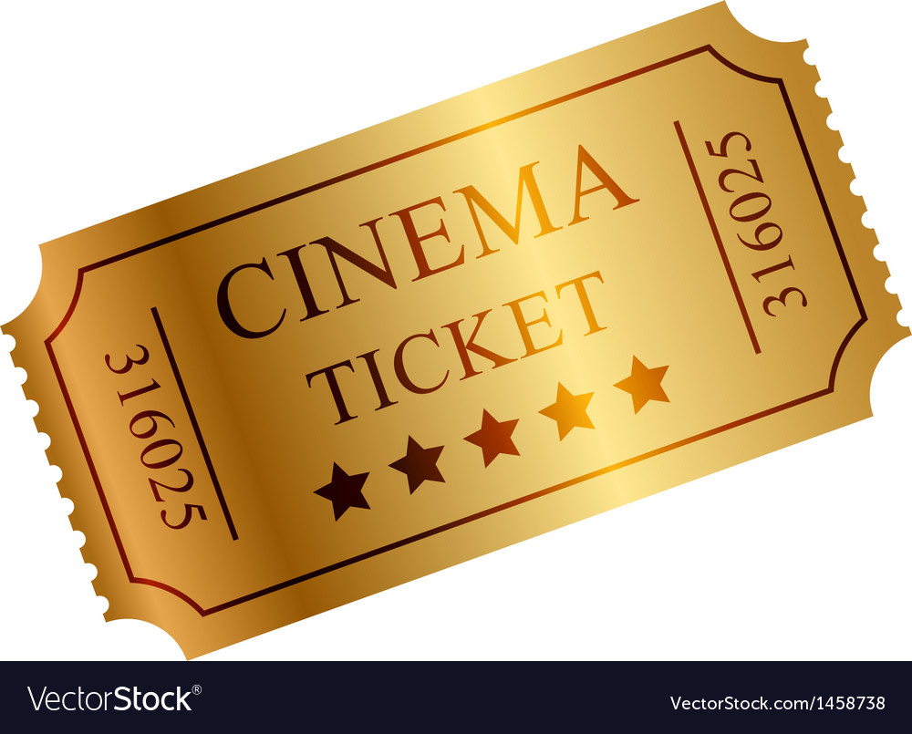 Gold ticket vector
