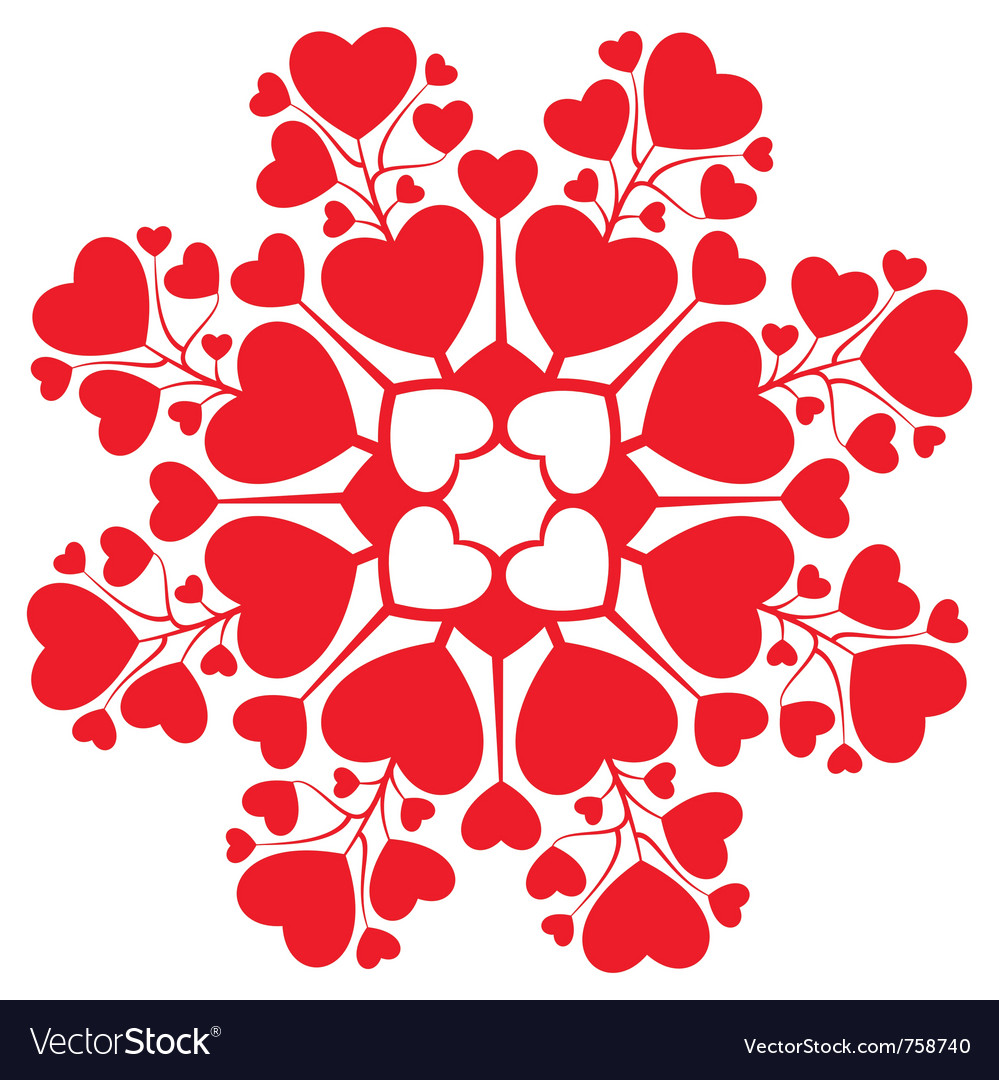 Valentine card decoration vector