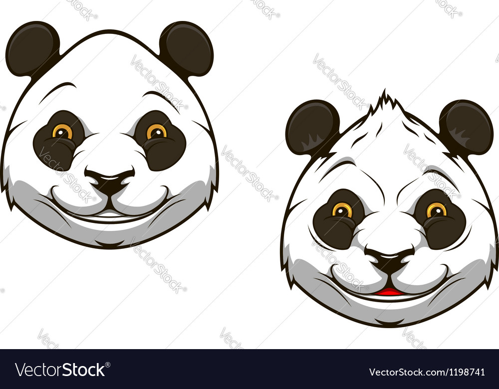Funny chinese panda bear mascot vector
