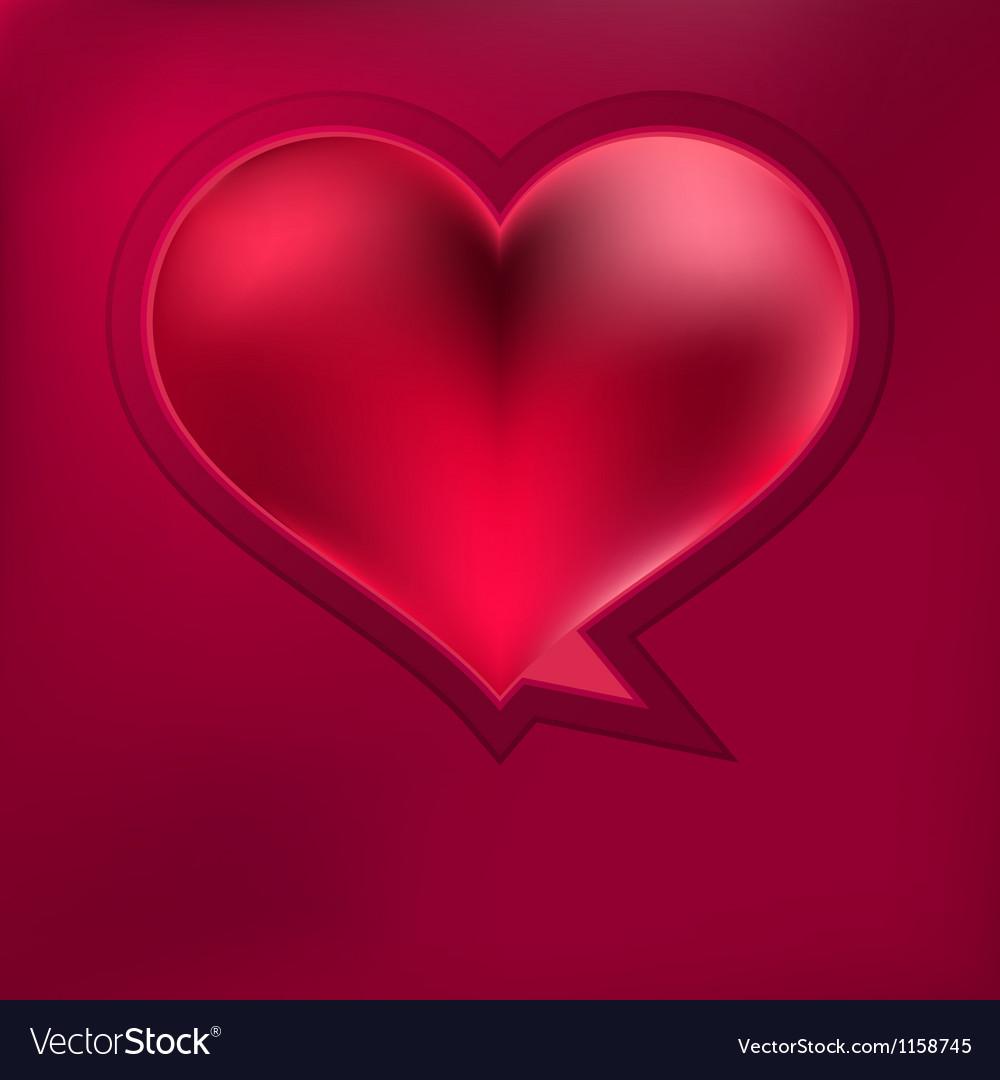 Heart speech bubble  eps8 vector