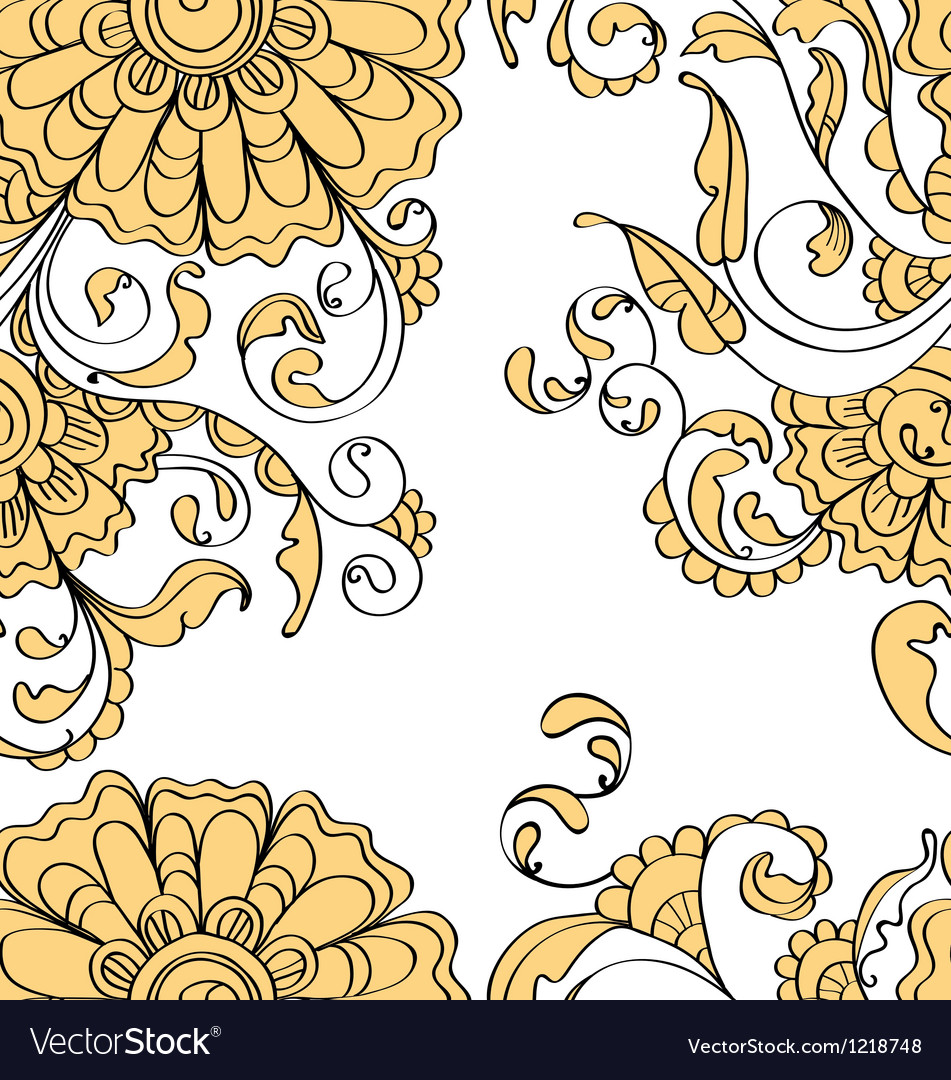 Seamless flower vector