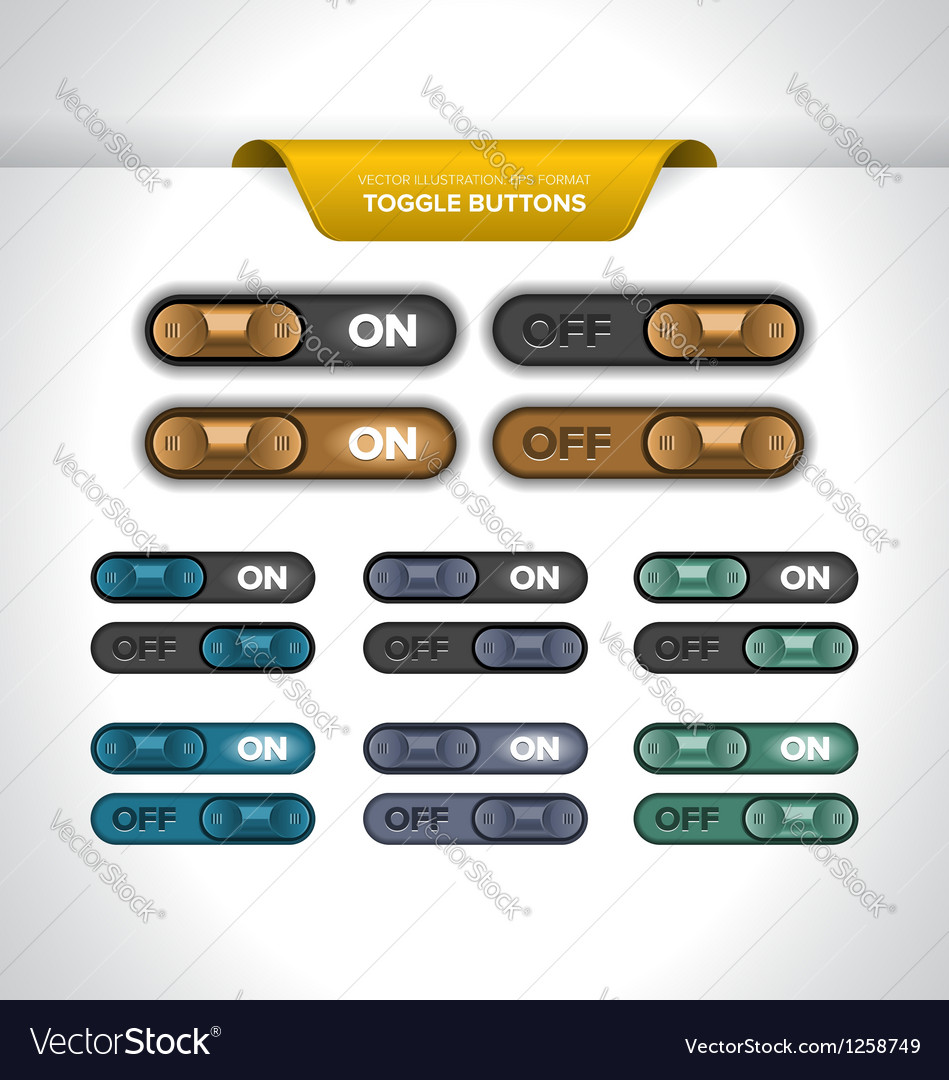Toggle buttons vector