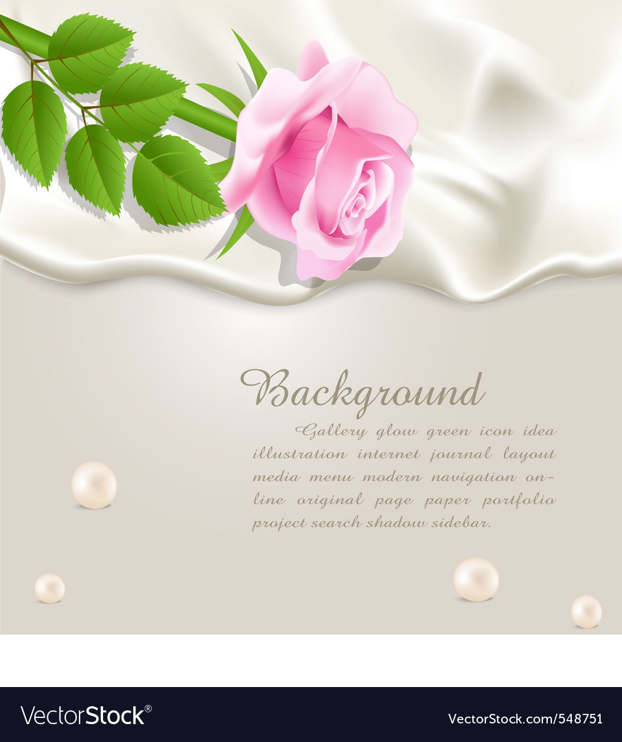 Silk and rose background vector