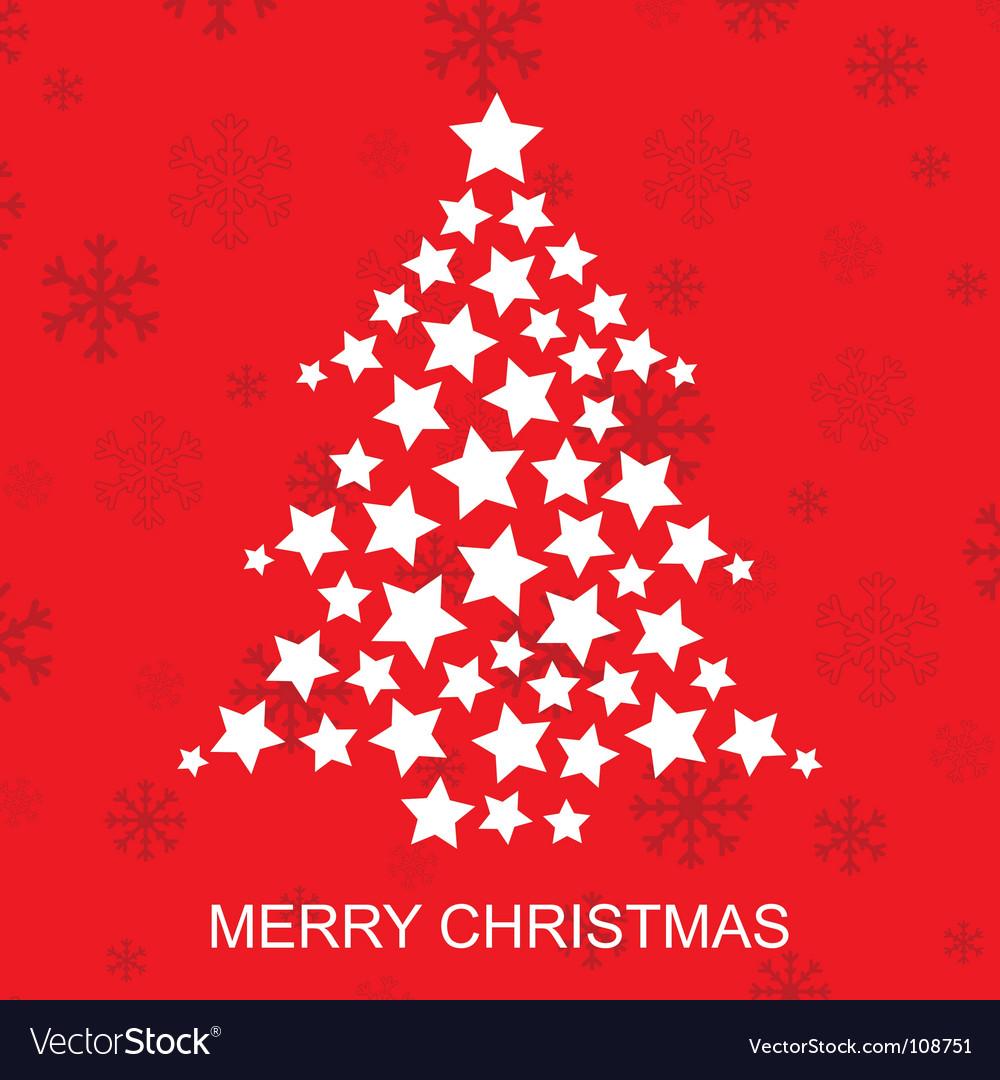 Star christmas tree vector Christmas Tree Shape With Star