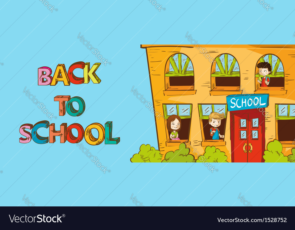 Colorful education back to school cartoon vector