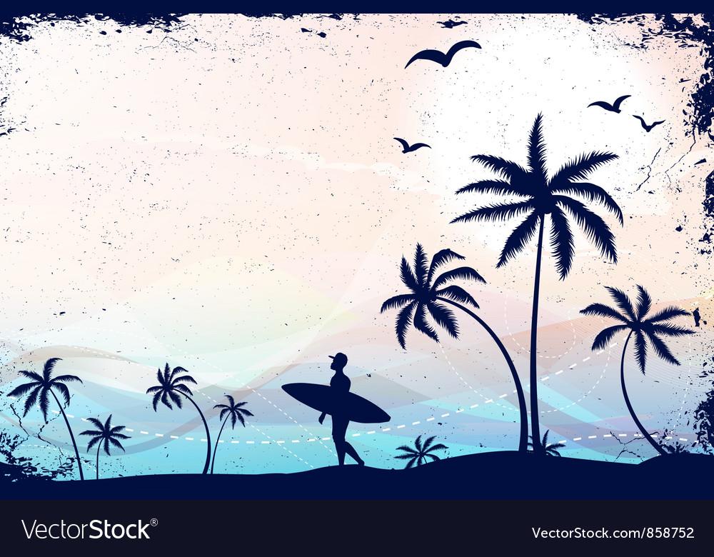 Summer grunge background vector