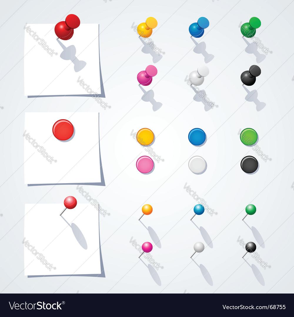 Pins vector