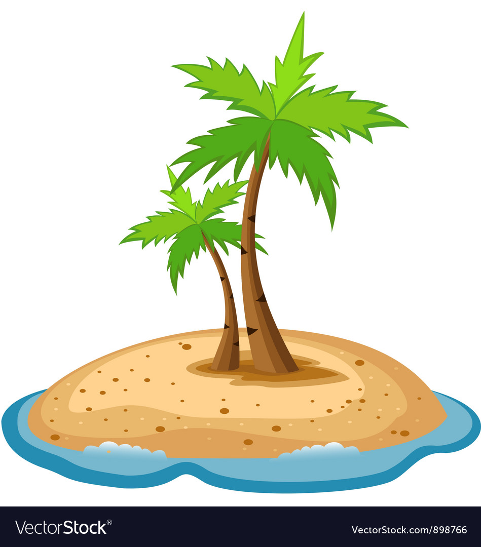 Topical island vector