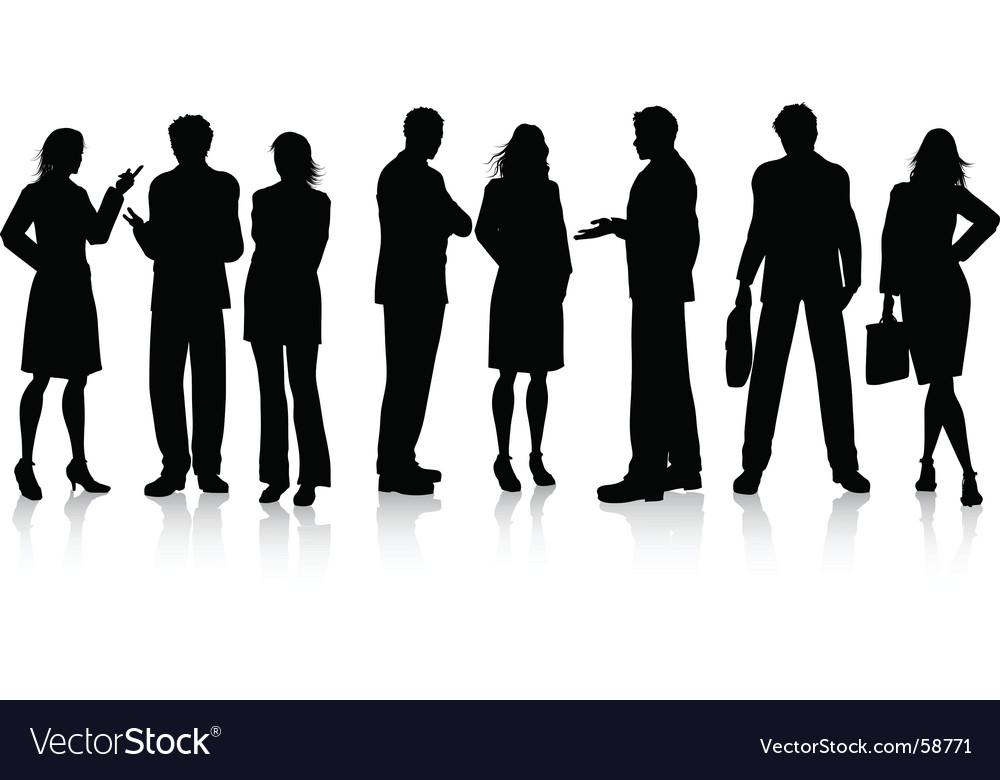 Business conversations vector