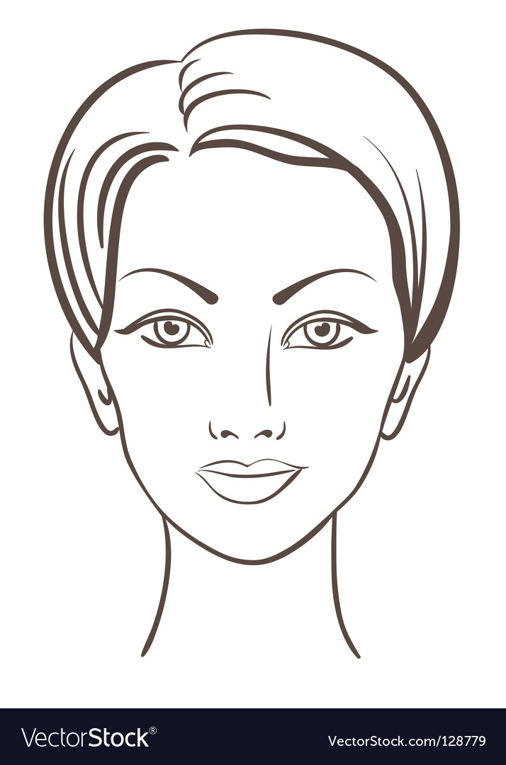 Female Face Template Woman face illustration vector