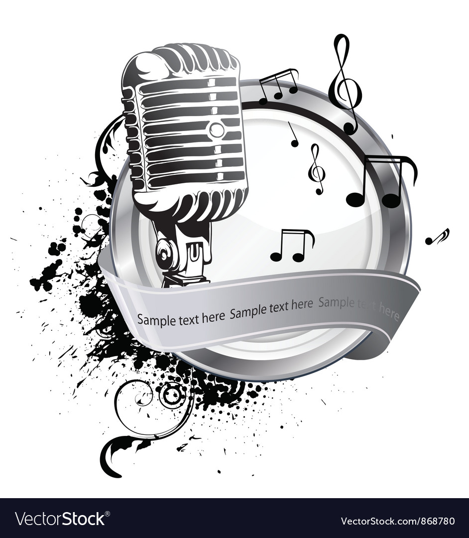 Microphone on a label vector