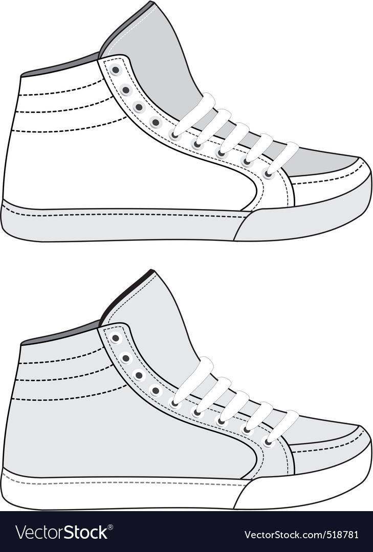 Sports footwear vector