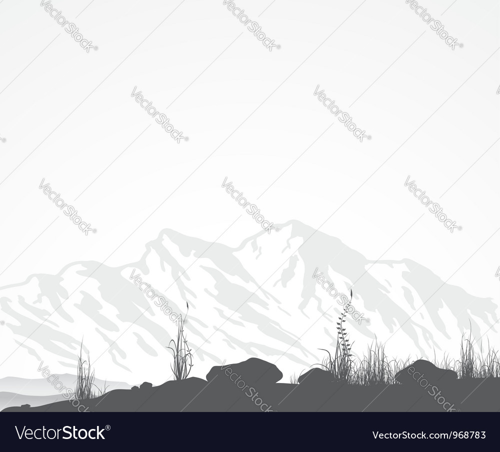 Landscape with mountains vector