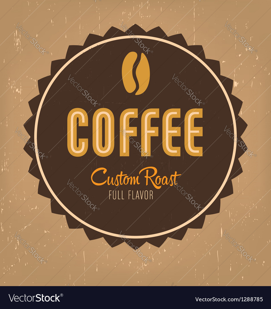 Coffe label vector