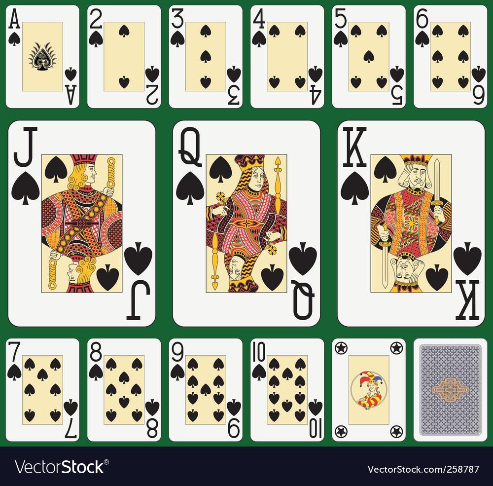 Spade suit large index vector