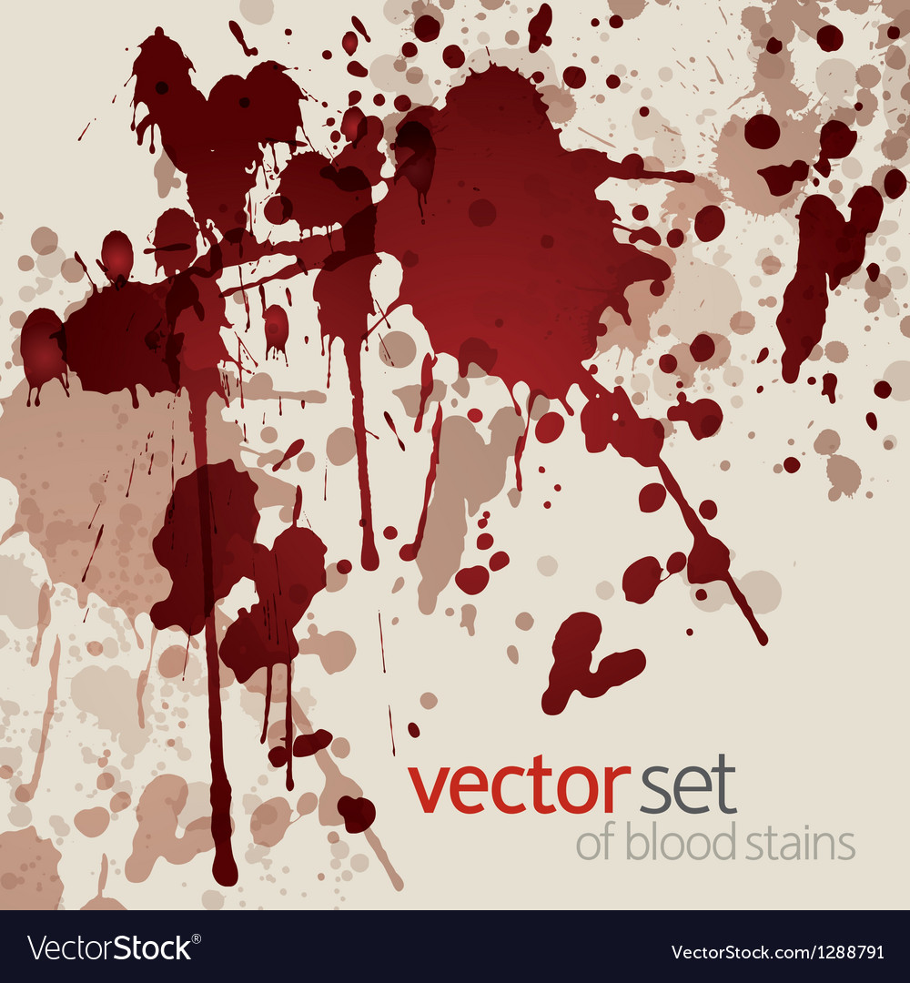 Blood stains vector