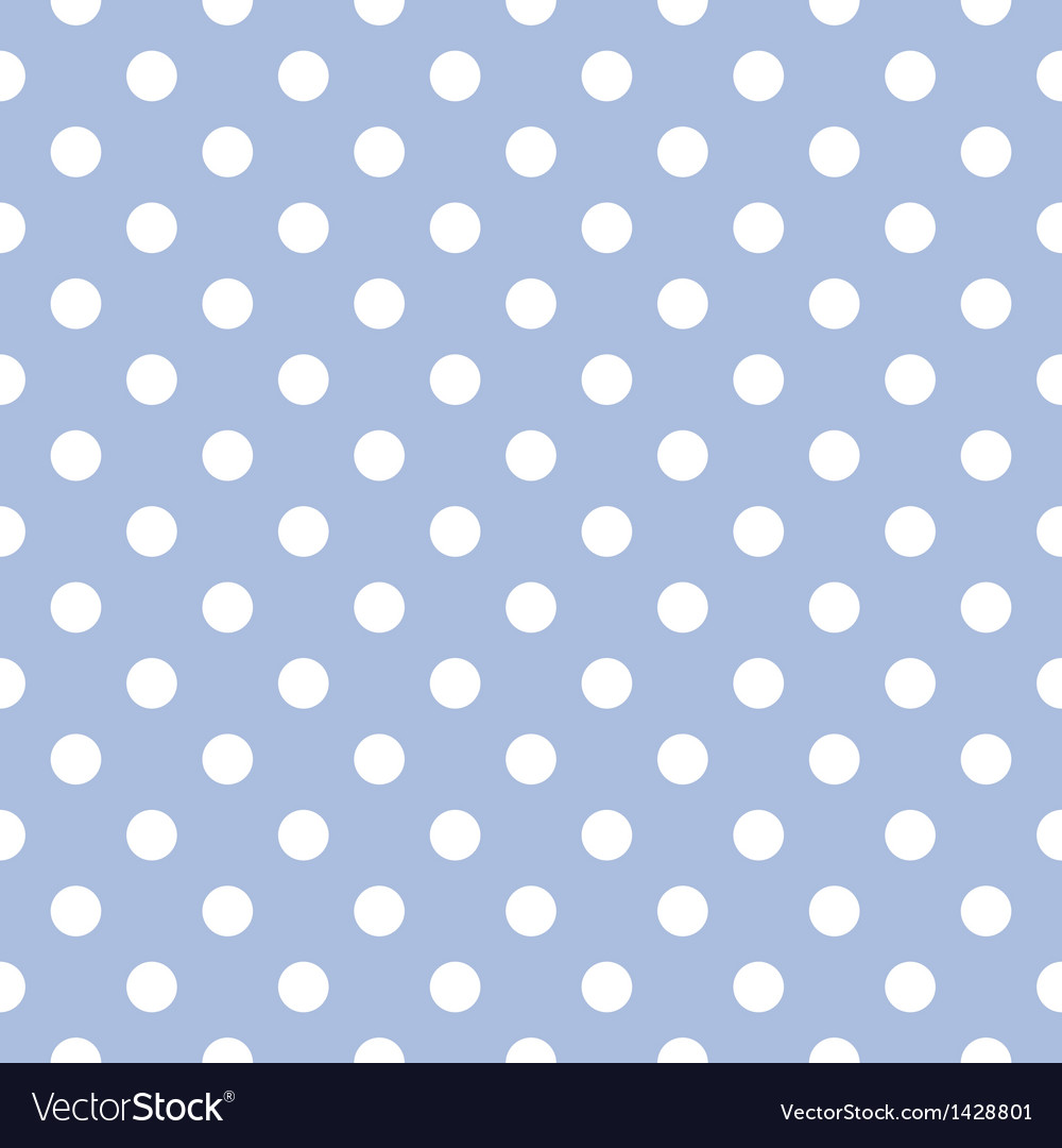 Seamless pattern with white polka dots on blue vector