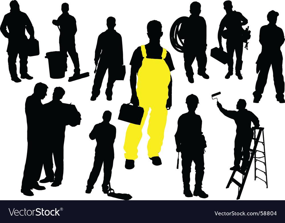 Twelve workers vector