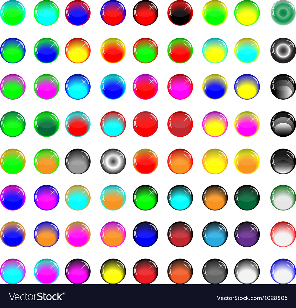 Glass buttons 081012 vector
