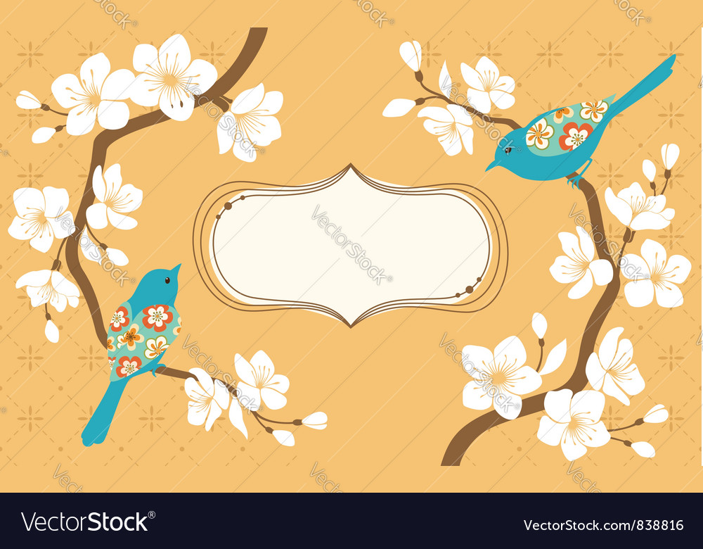Sakura branches vector
