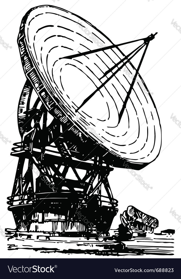 Satellite dishes antenna vector