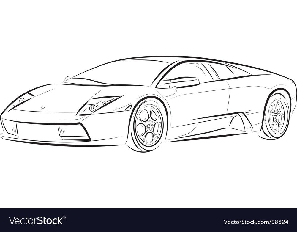 Car Sketch Vector By Mirumur Image 98824 VectorStock