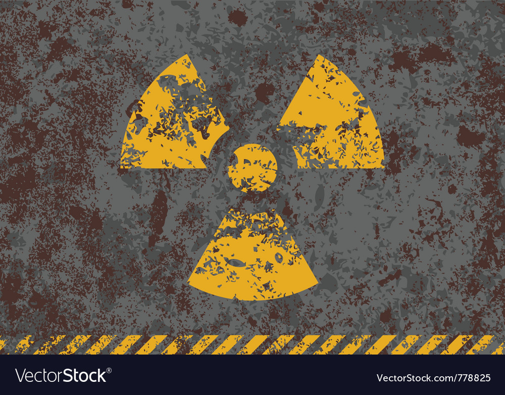 Grunge of radiation sign vector