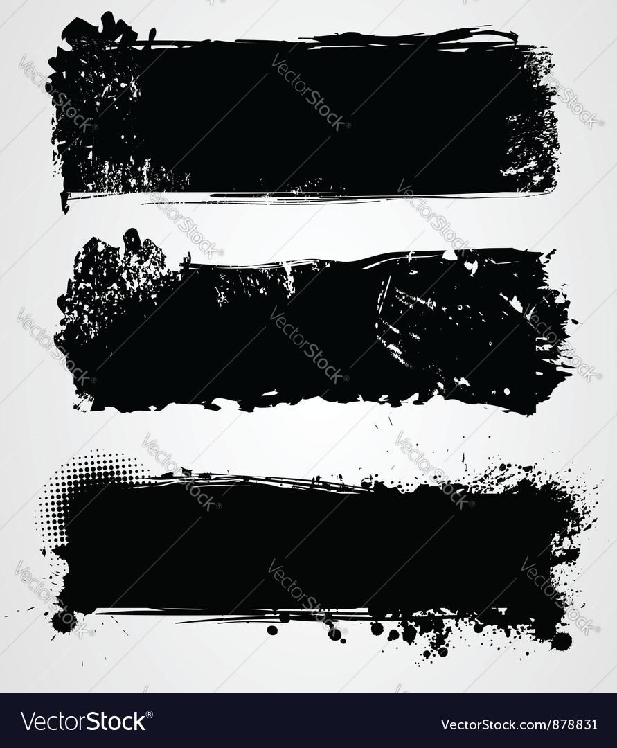 Black grunge vector
