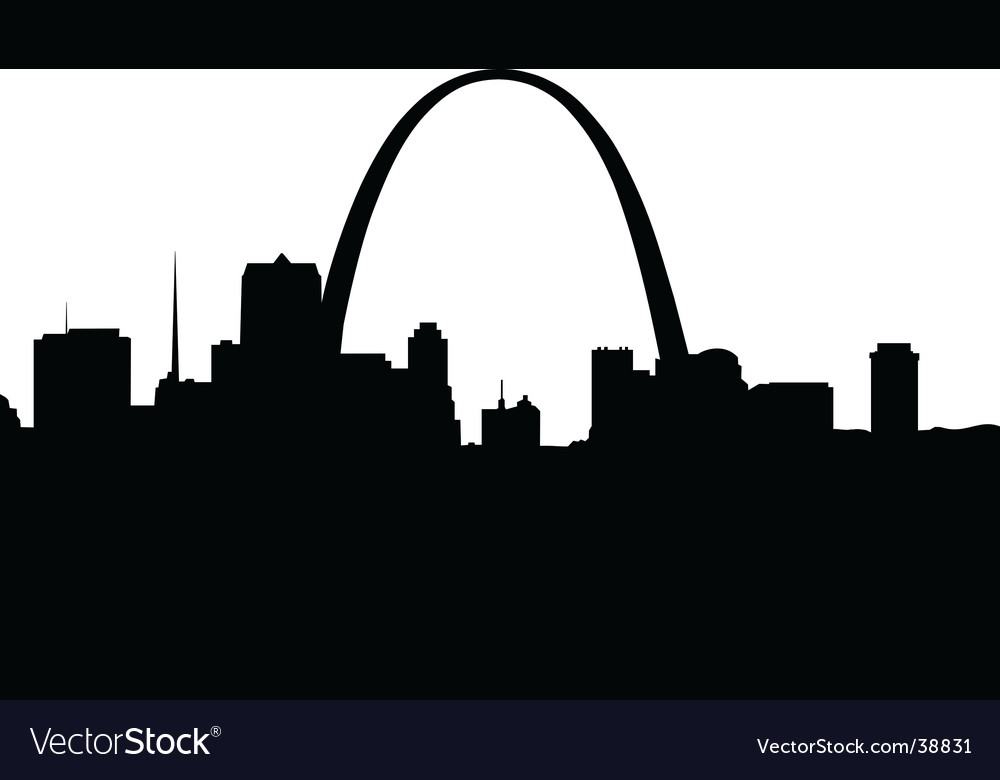 Saint louis silhouette vector