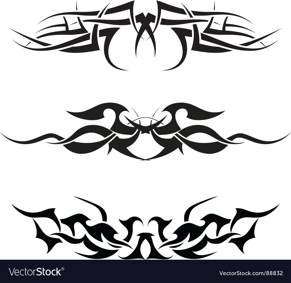 Tattoos set vector