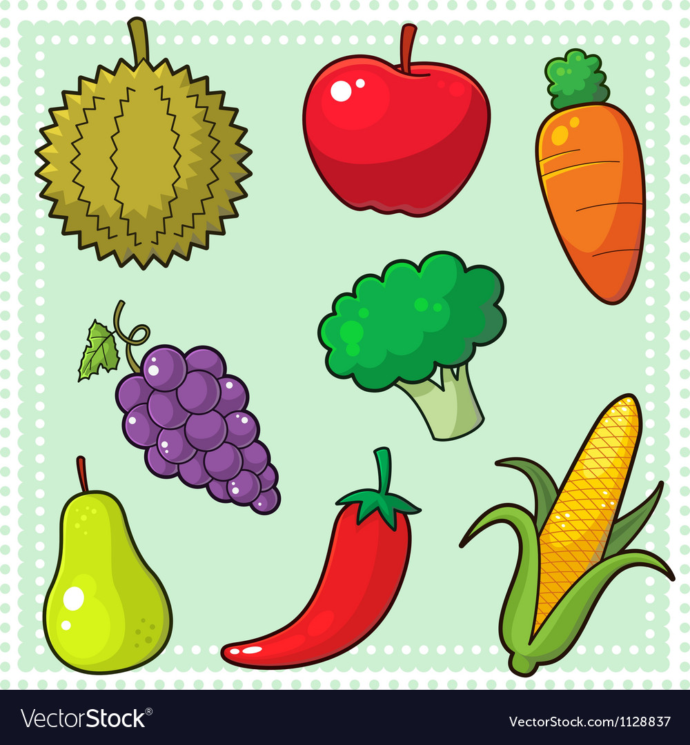 Fruits and vegetables 01 vector