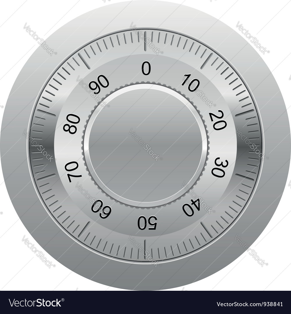 Combination lock 01 vector