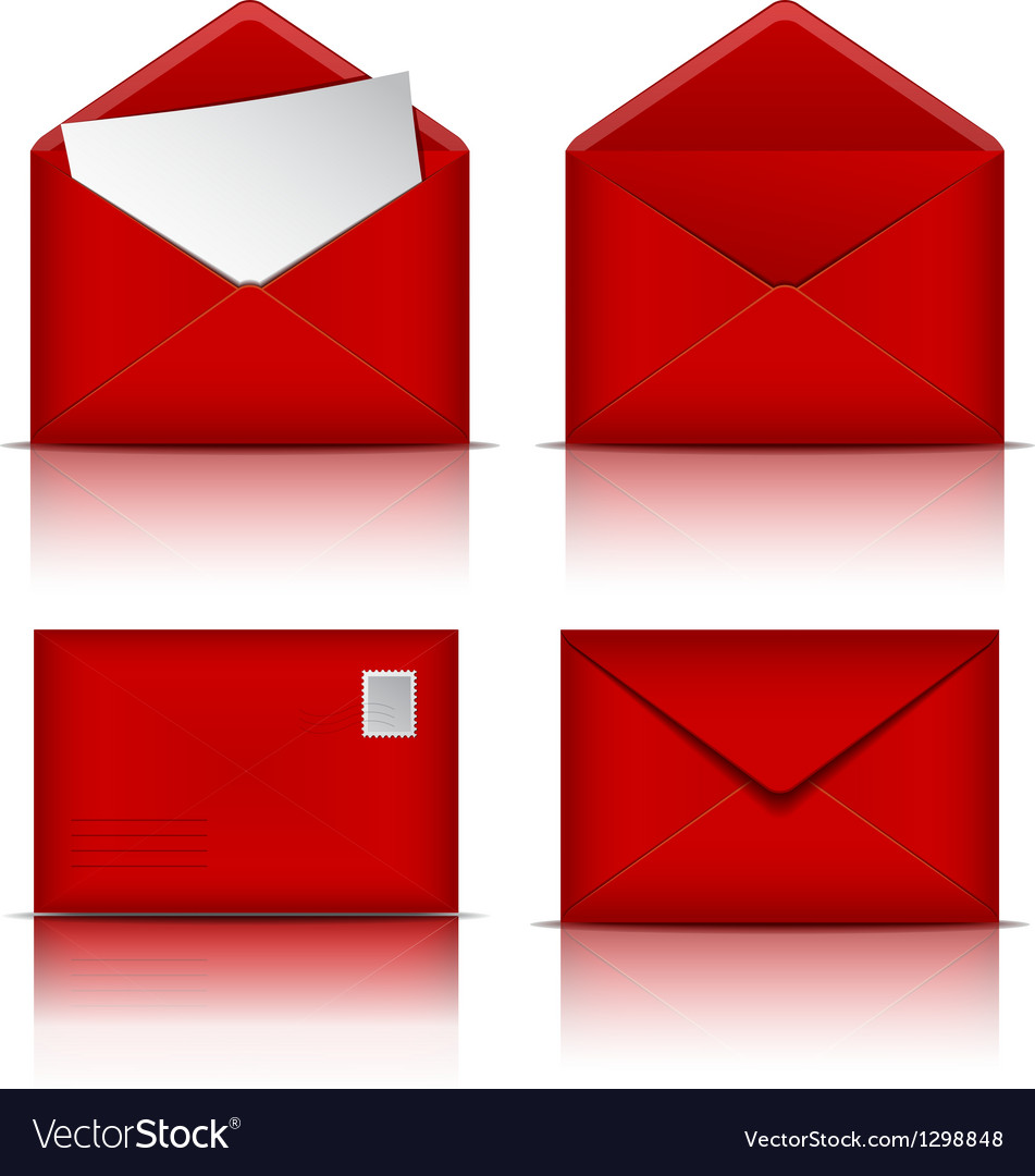 Set of red envelopes vector