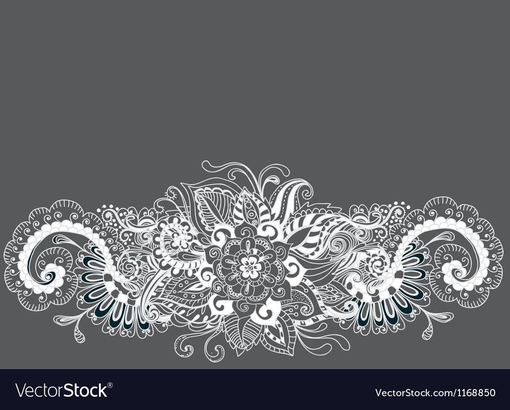 Floral ornament card vector