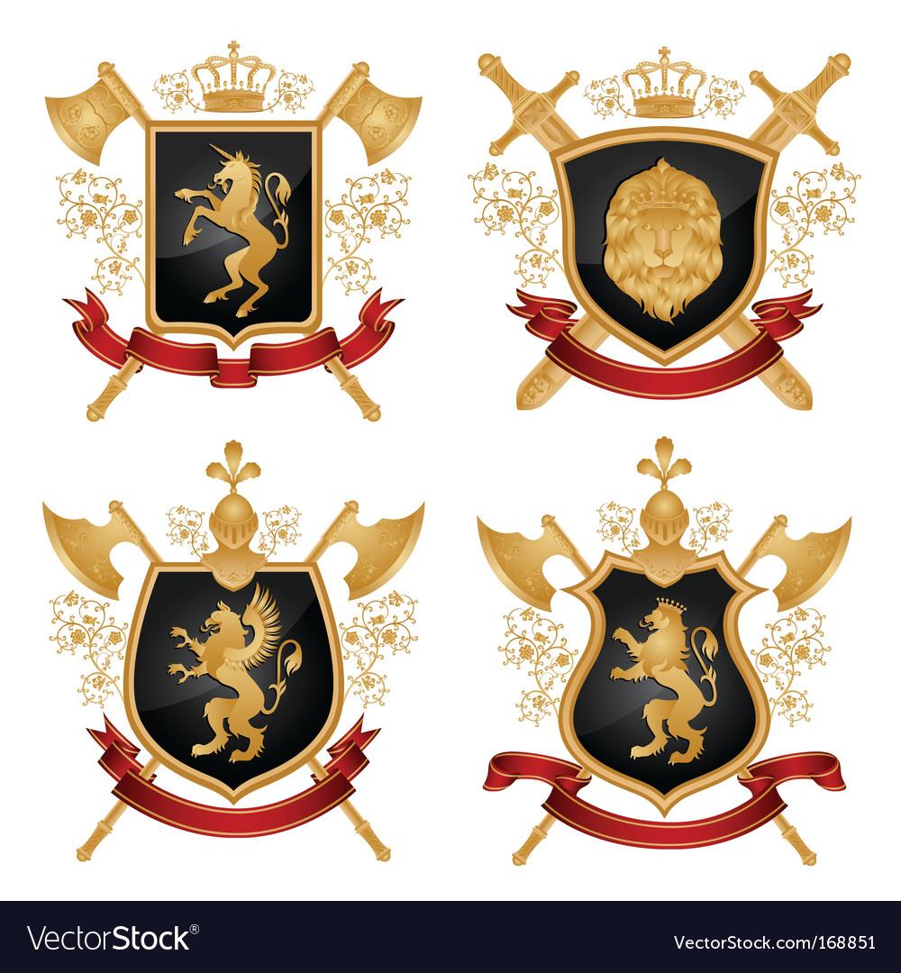 Heraldic shield vector