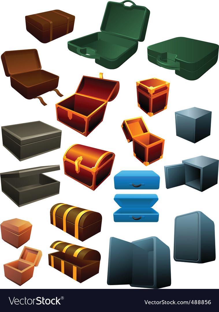 Box graphics collection vector