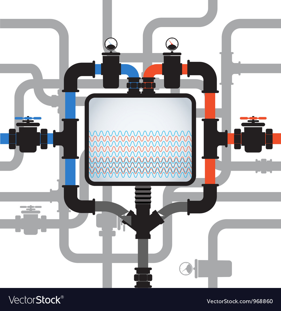 Abstract composition with pipes vector