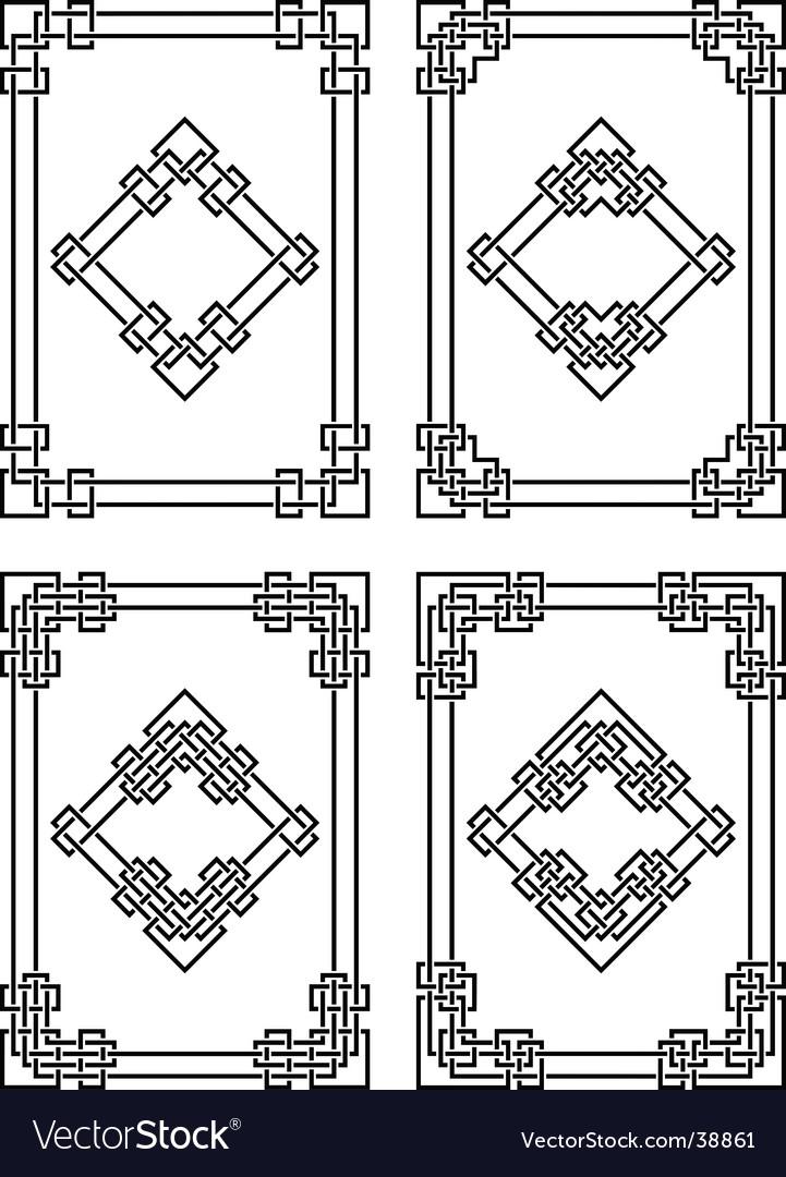 Geometrical borders vector