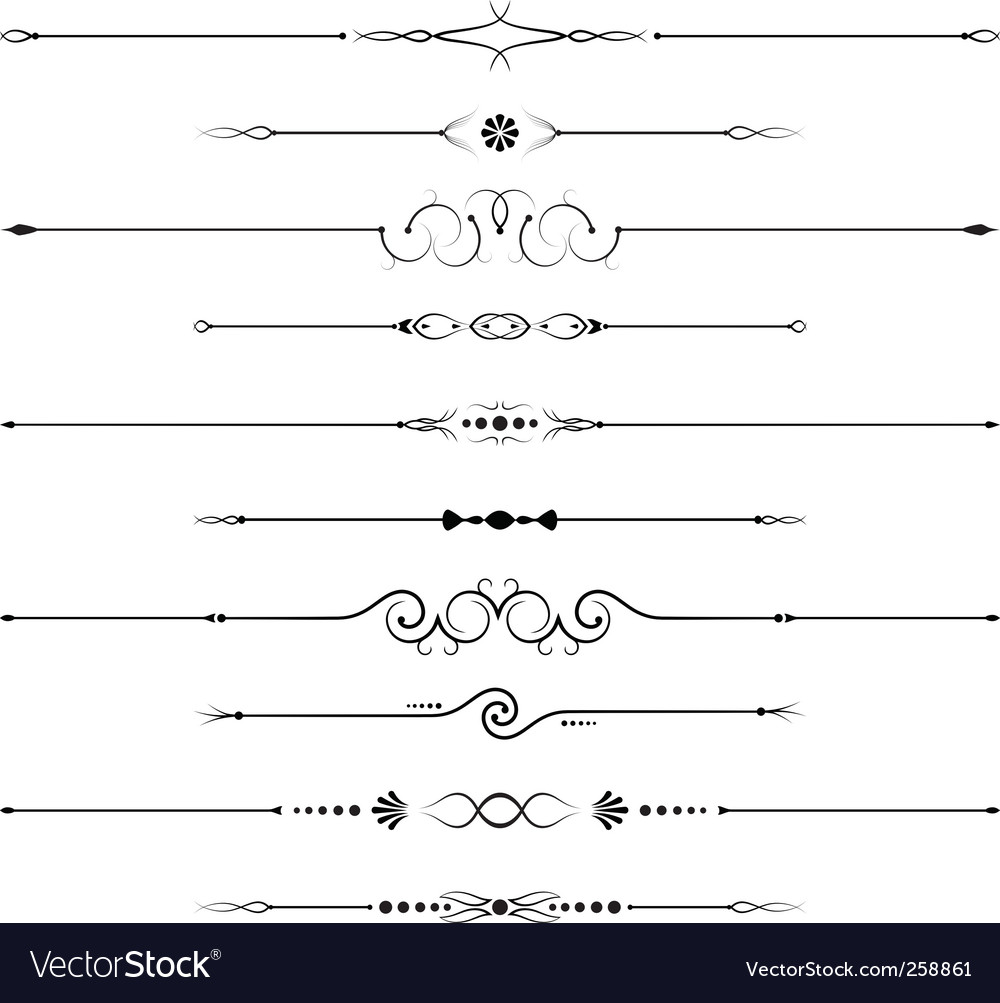 Page decorations vector
