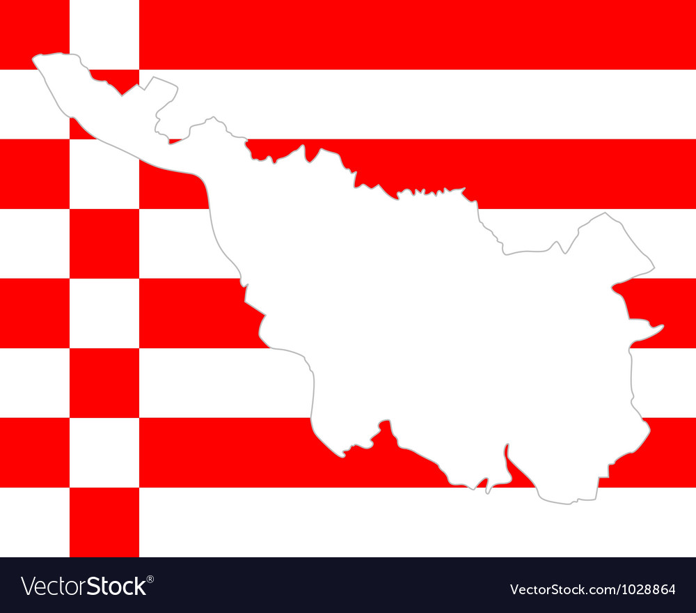 Map and flag of bremen vector