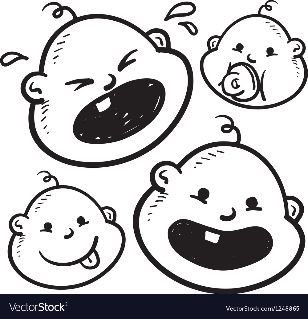 Baby faces vector