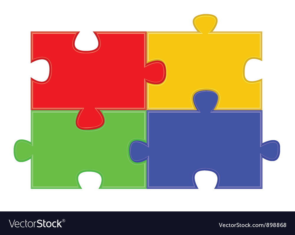 Jigsaw puzzle parts vector