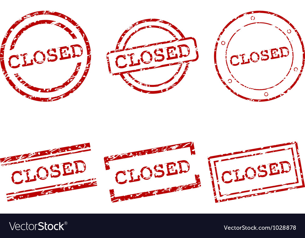 Closed stamps vector