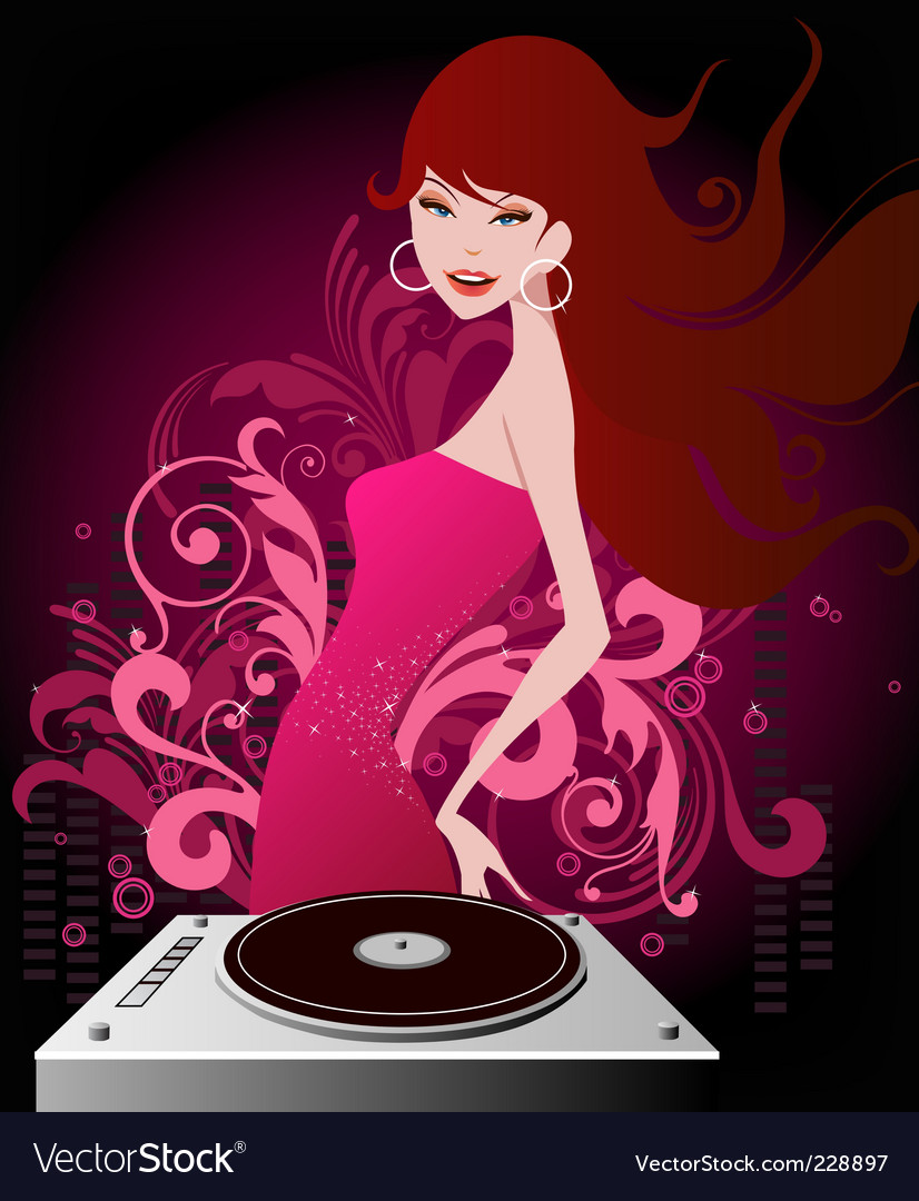 Dj beauty vector