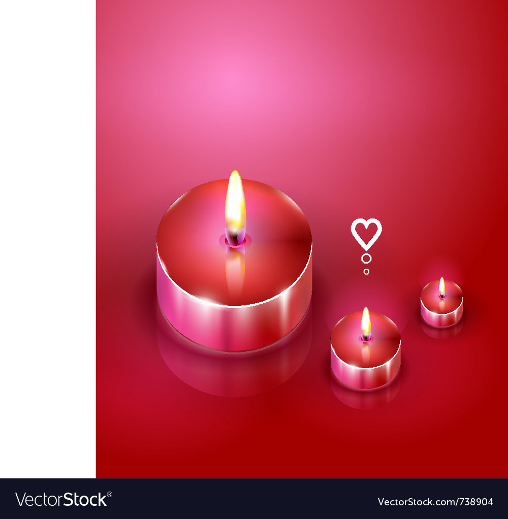 Romantic candles background vector
