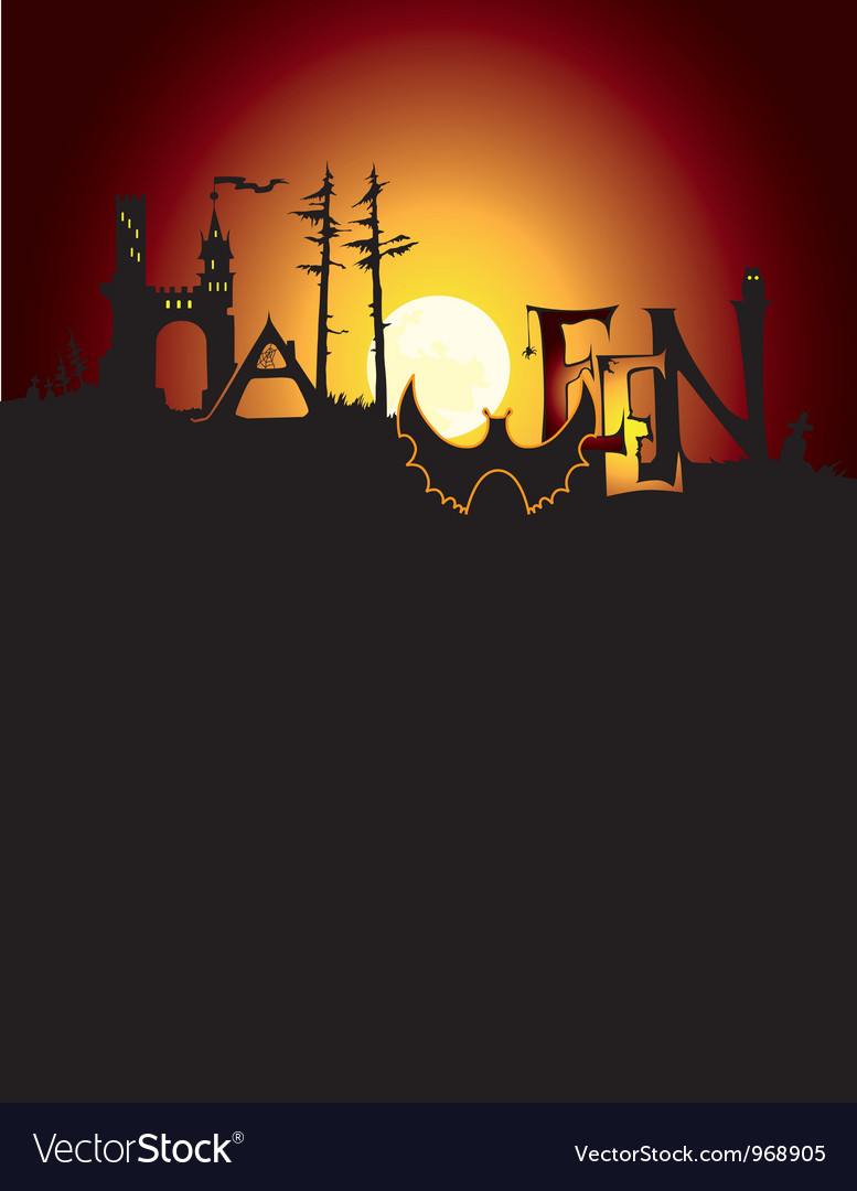 Halloween background and title vector
